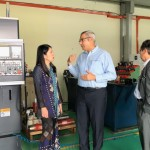 MIT CEO showing YB MESTECC the company's latest addition of CNC manufacturing capability